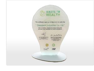写真7: タイ政府から贈られたグリーン証明書